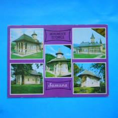 HOPCT 20298 MONUMENTE ISTORICE / MANASTIRI DIN -JUD SUCEAVA [CIRCULATA] - Carte Postala Bucovina dupa 1918, Printata