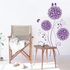 Autocolant Flori mov pentru decor