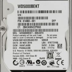 HDD Laptop Western Digital 500GB 7200RPM 16MB CACHE SATA2 WD5000BEKT Scorpio Black