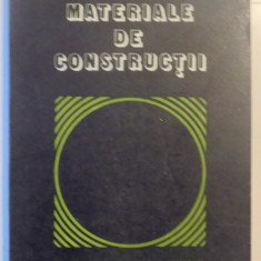 Carti Mecanica - MATERIALE DE CONSTRUCTII de C. BOB, P. VELICA, 1978