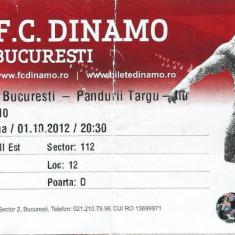 Bilet meci fotbal Dinamo Bucuresti - Pandurii Tg. Jiu (2012)