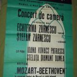 Calendar - Afis Filarmonica Iasi concert de camera Zarnescu Mozart-Beethoven 1982