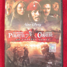 PIRATII DIN CARAIBE 3 - LA CAPATUL LUMII (film DVD original, CA NOU!!!) - Film Colectie disney pictures, Romana