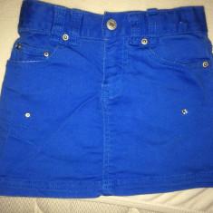 Fusta jeans, purtata o singura data, pt. 5-6 ani