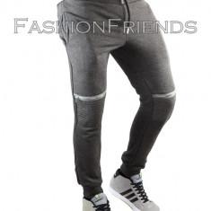 Pantaloni de trening tip ZARA gri - pantaloni barbati - cod 5118