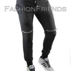 Pantaloni de trening tip ZARA negri - pantaloni barbati - cod 5116