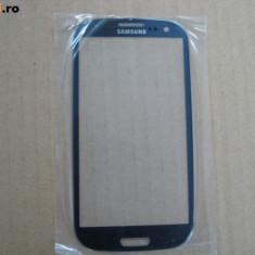 Touchscreen telefon mobil - Pachet Geam + folie sticla Samsung Galaxy S3 i9300 albastru touchscreen ecran