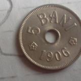 5 BANI 1906 J /2 FRUMOASA ARE LUCIU SUPERBA - Moneda Romania