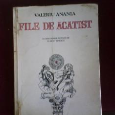 Carti ortodoxe - Valeriu Anania File de acatist cu 6 desene in penita de Vlaicu Ionescu