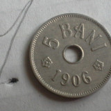 5 BANI 1906 J /7 FRUMOASA - Moneda Romania