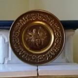FARFURIE DECORATIVA OLANDEZA DE PERETE DIN METAL ALAMA - Metal/Fonta, Ornamentale