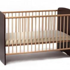 Patut Copii Lemn Fara Sertar Mykids Serena Wenge 5700 - Patut lemn pentru bebelusi