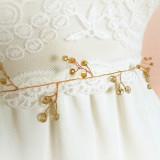 Handmade - Cordeluta mireasa, cordon mireasa, cordon cristale bej, curelusa eleganta