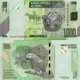 Bancnota Straine, Africa, An: 2012 - CONGO 1.000 francs 2005 (2012) UNC!!!
