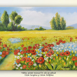 Zi frumoasa de vara (2) - tablou peisaj in ulei pe panza 70x50cm, An: 2016, Peisaje, Altul
