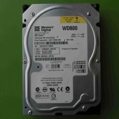 Hard Disk HDD 80GB Western Digital WD800JB ATA IDE, 40-99 GB, Rotatii: 5400, 2 MB