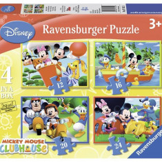 Puzzle Clubul Lui Mickey Mouse, 4 Buc In Cutie, 12/16/20/24 Piese