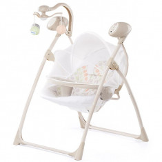 Set mobila copii - Leagan Si Balansoar Electric Chipolino Tropicana White