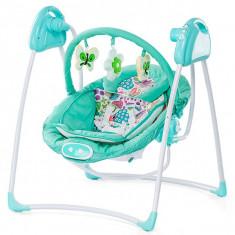 Set mobila copii - Leagan Electric Si Balansoar Chipolino Paradise Blue Green
