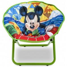 Masuta/scaun copii - Fotoliu pliabil pentru copii Mickey Mouse