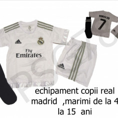 Set echipament fotbal Adidas - ECHIPAMENTE FOTBAL COPII 4-15 ANI, REAL MADRID-RONALDO, LIVRARE GRATUITA