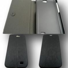 Toc FlipCover Lines Allview A5 Duo Negru - Husa Telefon