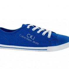 Tenisi Calvin Klein Jeans CKJ unisex noi in cutie - Tenisi dama Calvin Klein, Marime: 37, Culoare: Albastru