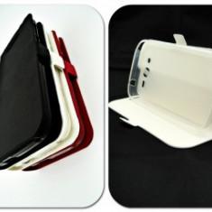 Husa FlipCover Stand Magnet E-Boda Storm X450 Alb - Husa Telefon