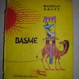 Carte de povesti - Wilhelm Hauff- Basme, 1981 // COPERTI CARTONATE, FORMAT A4