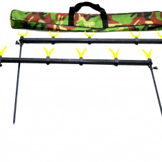 Rod Pod 5 Posturi Rainbow Buzzbar Cu Picheti Si Suporti U si V, Husa Transport - Lanseta