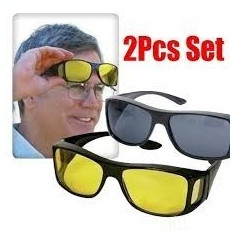 Ochelari pentru condus protectie UV HD Vision 2 buc noapte+zi, Unisex, Protectie UV 100%