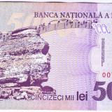 Bancnota 50.000 lei 2000 ( 50000 lei 2000 ) George Enescu Sfinxul Bucegi XF+(1)