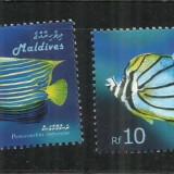 F  208 -  PESTI   -  MALDIVE   -   SERIE  NESTAMPILATA