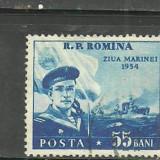 Romania 1954 - MARINA MILITARA, timbru stampilat A107 - Timbre Romania