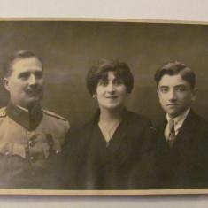 GE - Ilustrata fotografie veche BACAU familie ofiter roman 1922 - Carte Postala Moldova dupa 1918, Necirculata