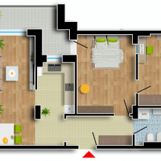 Apartament de vanzare, 2 camere, Etajul 7, An constructie: 2016, Suprafata: 93 - Apartament NOU, Cartier Prima Residence Oradea, 2 camere-SOFIA, 52550Eur