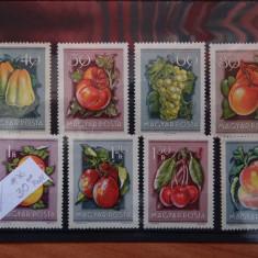 MPDV - Magyar Posta - Timbre Ungaria - Serii 1954 ** nestampilate Fructe - Timbre straine