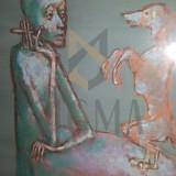 TABLOU, ION IANCUT, DRESORUL DE CAINI , pastel, 70 x 50 cm.