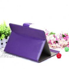 Husa Tableta 7 Inch Model X, Mov, Tip Mapa, Prindere 4 Cleme C90, 7 inch, Universal