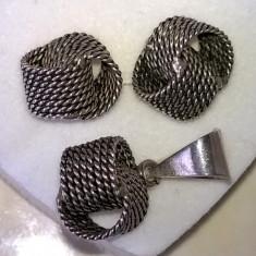Cercei și pandantiv argint 925 - Set bijuterii argint