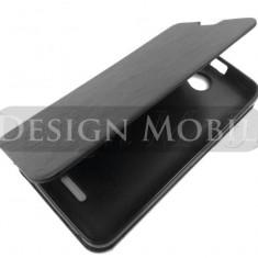 HUSA HTC DESIRE 516 FLIP TIP CARTE SUPER OFERTA - Husa Telefon HTC, Negru, Piele Ecologica, Cu clapeta, Toc