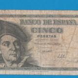 Spania 5 pesetas 1948 1 - bancnota europa