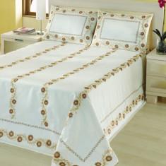 Cuvertură de pat dublu Valentini Bianco YT017