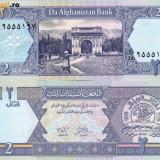 AFGANISTAN, 2 AFGANIS 2002, UNC
