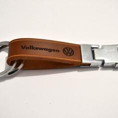 Breloc VW piele naturala - Breloc Auto Volkswagen