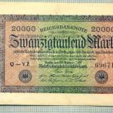 A 120 BANCNOTA-GERMANIA -20 000 MARK- anul 1923-SERIA 696715-starea care se vede
