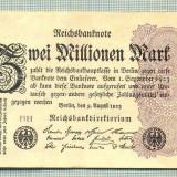 A 117 BANCNOTA-GERMANIA -2 MILION MARK- anul 1923-SERIA FARA-starea care se vede