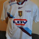Tricou barbati - Tricou de colectie Aston Villa F.C. - F.A. Cup Final, Wembley 2000. Nou.REEBOK.