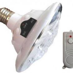 Bec LED cu acumulator si telecomanda