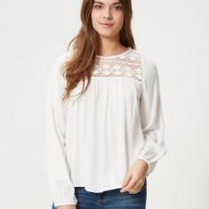 Bluza tip ie, 100% vascoza - Vero Moda -10157232 alb - Bluza dama Vero Moda, Marime: M, L